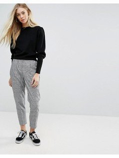 New Look Pow Check Pull On Trousers - Black