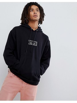 Obey Hoodie With Those Eyes Embroidered Logo In Black - Black