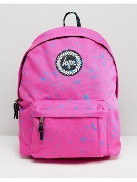 Hype Pink Splat Backpack - Pink