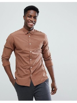 Selected Homme Slim Fit Shirt - Brown
