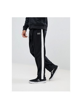 Obey Borstal Track Jogger In Relaxed Fit - Black