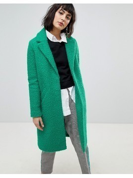 River Island Textured Car Coat - Green