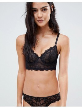 Lepel underwired bra in black sheer - Black
