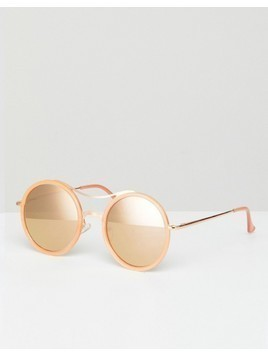 Jeepers Peepers Round Sunglasses In Tan - Brown