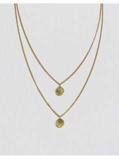 Made Double Layered Necklace - Gold