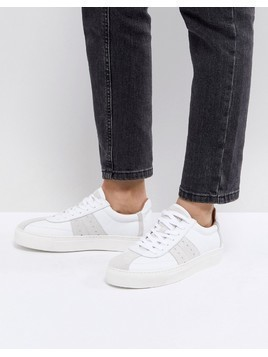 Selected Leather&Suede Trainer - White