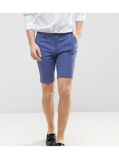 Noose&Monkey Skinny Smart Short - Blue