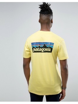 Patagonia P-6 Back Logo T-Shirt Regular Fit in Yellow - Yellow
