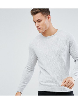 Burton Menswear Textured Knitted Jumper In Grey - Grey
