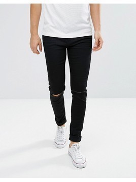 Weekday Friday Skinny Fit Jean Wow Black - Black
