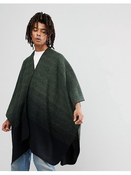 ASOS Cape In Khaki To Black Ombre Design - Multi