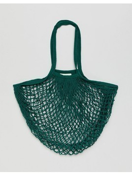 Rock N Rose Bright Green String Shopper Bag - Green