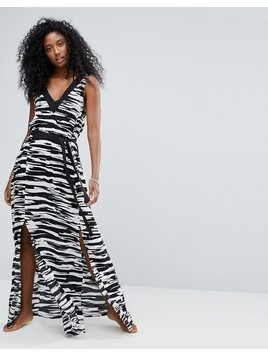Seafolly Step It Up Printed Maxi Beach Dress - Black
