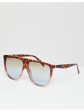 Jeepers Peeepers Flat Top Visor Sunglasses With Gradient Lens - Brown