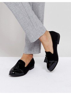 Truffle Collection Tassle Loafers - Black