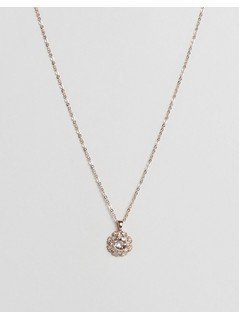 Ted Baker Sirou Crystal Daisy Lace Pendant - Gold