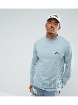 Ellesse Long Sleeve T-Shirt With Large Logo In Blue - Blue