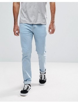 Hoxton Denim Skinny Fit Jeans in Light Bleach - Blue