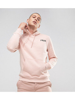 Fila Black Hoodie With Small Logo In Pink Exclusive To ASOS - Pink