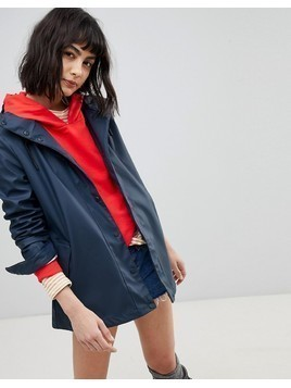 Hunter Lightweight festival Rubber Raincoat - Navy