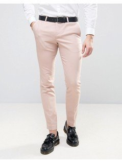 Noose&Monkey Super Skinny Trousers With Piping - Pink