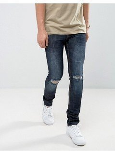 Loyalty and Faith Manchester Skinny Jean with Unrolled Hem in Indigo - Blue