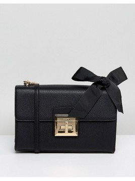 ALDO X Body Bag with Chain Strap and Bow Detail in Black - Black
