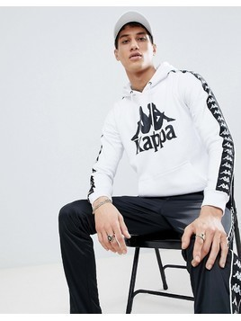 Kappa Hoodie With Banda Taping - White