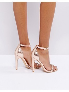 Truffle Collection Barely There Heel Sandals - Copper