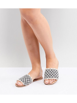 ASOS DESIGN Fever Wide Fit Woven Mules - Multi