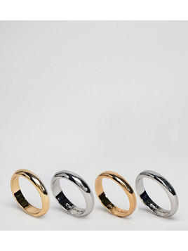 Cheap Monday Conspiracy Ring Set - Gold