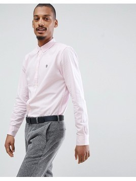 French Connection Long Sleeve Oxford Shirt - Pink