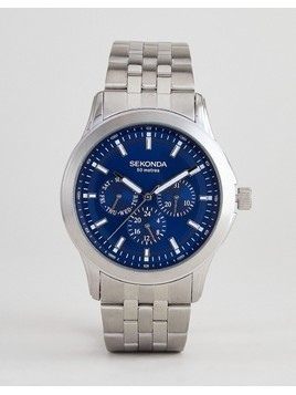 Sekonda Chronograph Bracelet Watch In Silver Exclusive To ASOS - Silver