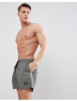 Nicce London Swim Shorts In Khaki - Green