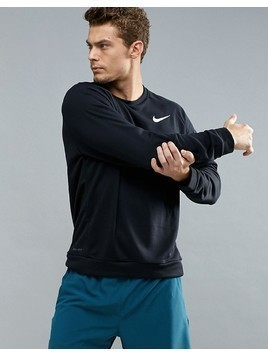 Nike Training Dri-FIT Fleece Sweat In Black 860474-010 - Black
