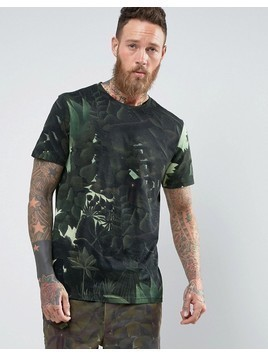Weekday Johnston Rouss T-Shirt Jungle Print - Green