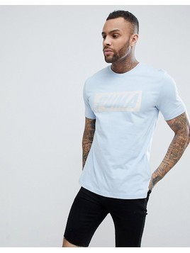 Puma Logo T-Shirt - Blue