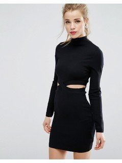 New Look Cut Out Jumper Dress - Black