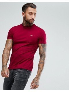Lacoste Crew Neck Basic Logo T-Shirt In Red - Red