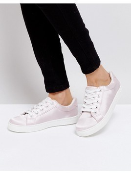 Truffle Collection Lace Up Trainers - Pink