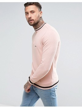 Diesel S-ALLEN Perforated Zip Sweat - Pink