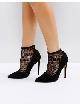 ASOS POLISHED Sock High Heels - Black