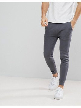 ASOS Super Skinny Joggers In Washed Grey - Grey