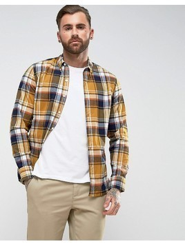 Levis Pacific No Pocket Shirt Madrone Buckthorn Check - Yellow