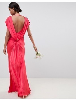 Ghost capped sleevemaxi dress - Red