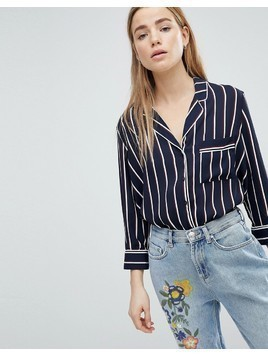 Pimkie Stripe Blouse - Navy