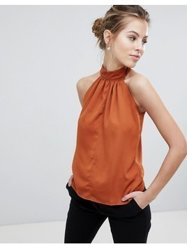 Vesper Halterneck Top - Orange