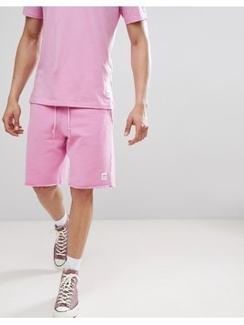 Converse Essentials Cut-Off Shorts In Pink 10003347-A09 - Pink