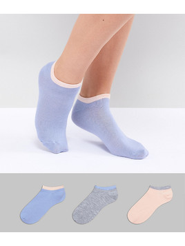 Fruitcake 3 Pack Ankle Socks With Contrast Banding - Multi