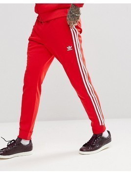 adidas Originals adicolor Superstar Joggers In Red CW1276 - Red